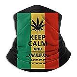 Keep Calm and Smoke Weed Neck Warmer Bandana Scarf Headband pour la poussière, l'extérieur, Les SPOR