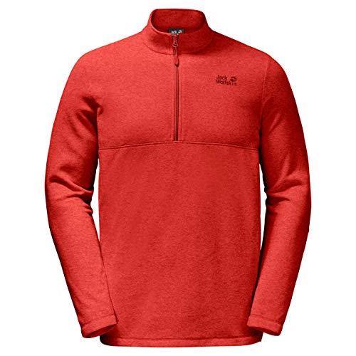 Jack Wolfskin Herren Gecko Sweatshirt, Lava red, XXL