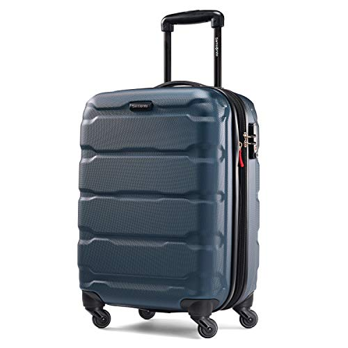 Samsonite Omni PC Hardside Expandable Luggage with Spinner Wheels, Teal, Carry-On 20-Inch