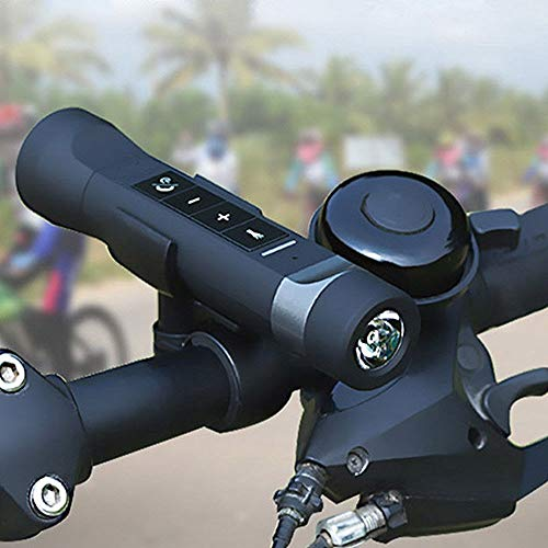 Altavoz Bluetooth para Bicicletas 3 en 1, Altavoz Bluetooth + Power Bank + Linterna Luz Led + Soporte para Bicicletas