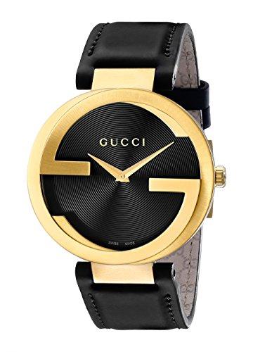 Gucci Interlocking Uhr Unisex Schweizer Quarz 37mm Lederband ya133326