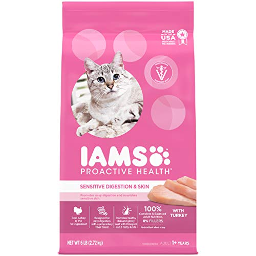 IAMS Proactive Health Adult Sensitive Digestion & Skin Dry Cat Food | Chewy