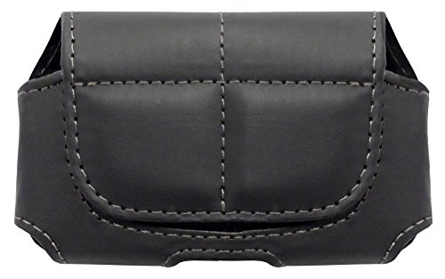 GreatCall Leather Case with Belt Clip for Jitterbug Cell Phone (Black)