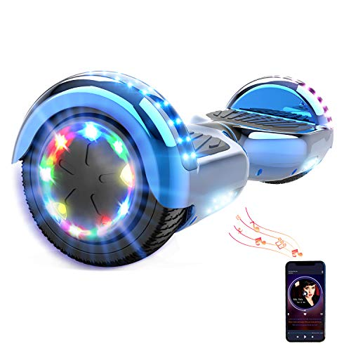HITWAY 6,5 Pulgadas Hoverboard LED Scooter eléctrico Bluetooth 6,11 Pulgadas Scooter eléctrico...