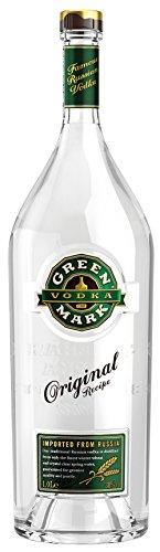 Green Mark Vodka - 38% Vodka (1 x 1,0l) - Russischer Vodka nach Traditionsrezept