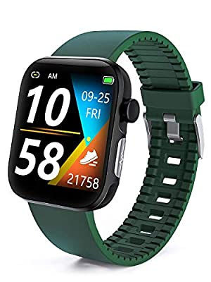 RichLcc Smart Watch HRV Activity Tracker Blood Oxygen Meter Heart Rate Blood Pressure Monitor Waterproof Fitness Tracker Watch with Sleep Monitor Smart Band Calories Pedometer for Women Men (Green)