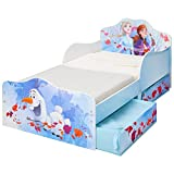 Disney Frozen Kids Toddler Bed with underbed Storage by Hello Home