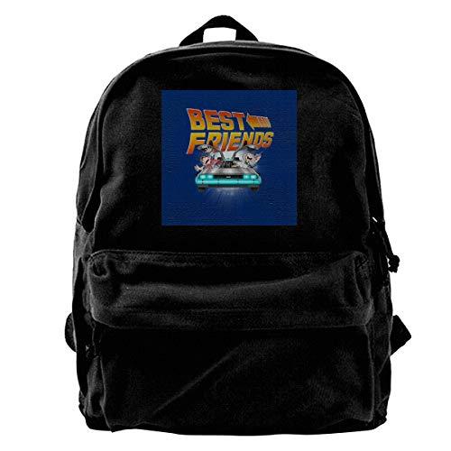 MIJUGGH Canvas Backpack Back to The Future Babies Best Friends Rucksack Gym Hiking Laptop Shoulder Bag Daypack for Men Women