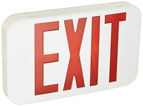 Lithonia Lighting EXR EL M6 Contractor Select LED Backup Battery Exit Emergency Sign, Back Up, Red Text