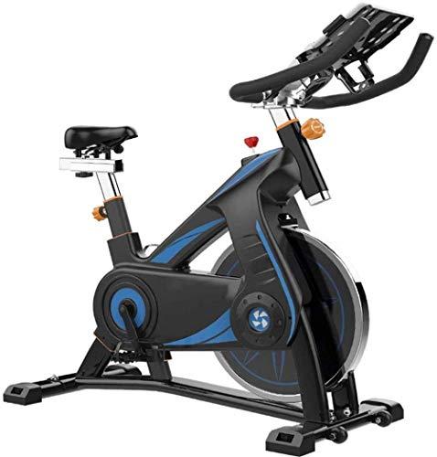 Bicicleta giratoria profesional para interiores con brazo acolchado, asiento cómodo, fitness, recreación y entrenamiento, para uso interior, 100 x 50 x 118 cm, color negro