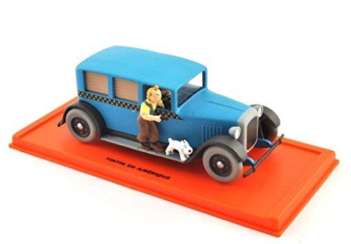DieCast Metall Miniaturmodelle Modellauto 1:43 Tim Struppi Tintin Comic Collection Taxi Checker inklusive Figuren und Kunststoff Vitrine