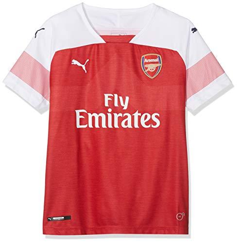 Puma Kinder Arsenal FC Home Shirt Replica Ss Kids mit EPL Sponsor Logo Trikot, rot (Chili Pepper Heather-White-Chili Pepper), 164