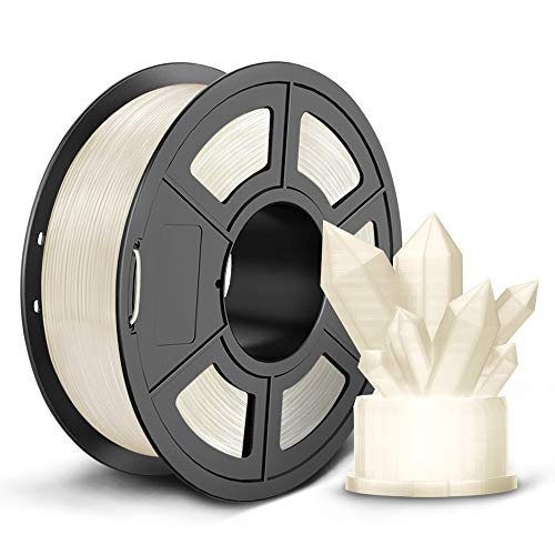 SUNLU PLA 3D Printer Filament, 1.75mm PLA Filament, 2.2LBS (1KG) 3D Printing Filament for 3D Printers 3D Pen, Transparent