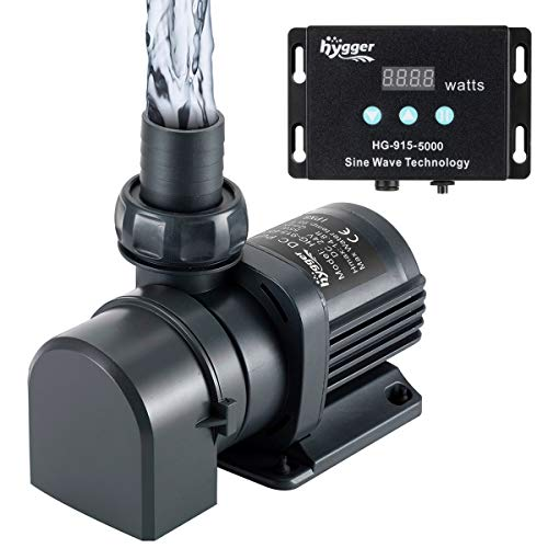 Hygger 1350GPH Quiet Submersible and External 24V Water Pump, with Controller (30%-100% Settings), Powerful Return Pump for Fish Tanks, Aquariums, Ponds, Fountains, Sump, Hydroponics (40W, 13.1ft)