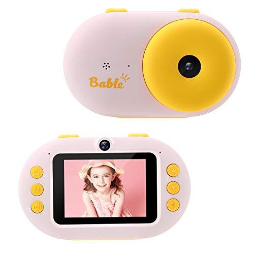 """Bable Kinderkamera 2.4"""" Digitalkamera für Kinder, 1080P HD Kinder wasserdichte Kamera mit 16G SD Karte, für 3-12 Jahre Jungen/Mädchen Geburtstagsgeschenke, Rosa"""