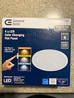 4 in./J-Box 8-Watt Dimmable White Integrated LED Round Flat Panel Ceiling Flushmount Light with Color Changing CCT