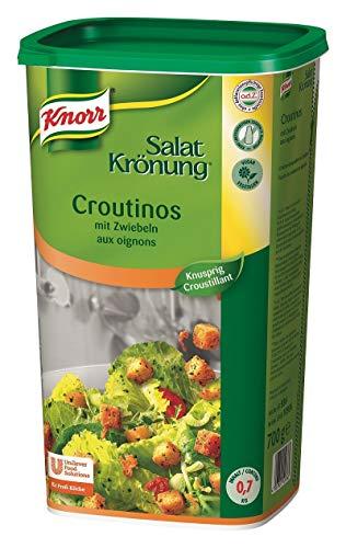 Knorr Salatkrönung Croutinos mit Zwiebeln (knuspriges Topping für Salat und Suppe) 1er Pack (1 x 700g)