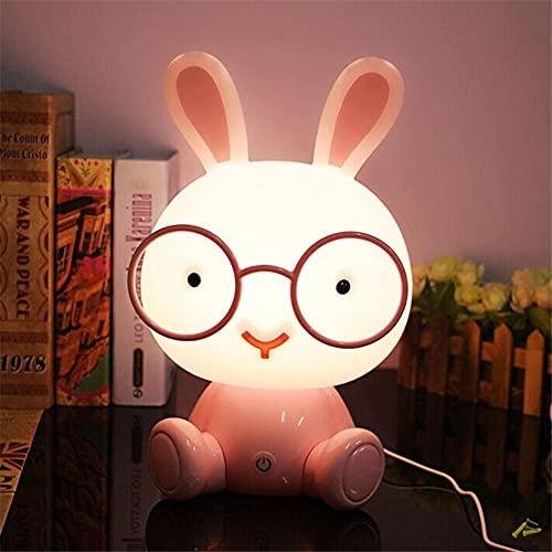 Occhiali Da Cartone Animato A Led Luce Notturna A Coniglio Interruttore A Sfioramento Camera Da Letto Per Bambini Lampada Da Comodino Lampada Da Luna Lampada Da Lava Lampada Da Notte Illuminatore