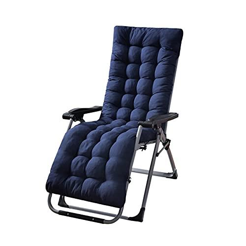 YWTT Sun Lounger Kissenauflagen Lounge Chair Kissen Velvet Thicken Sessel Sitzkissen Bürostuhl Matratze Massage Pad (Navy, 48x170cm)