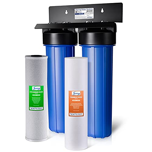 """iSpring WGB22B 2-Stage Whole House Water Filtration System with 20""""..."""