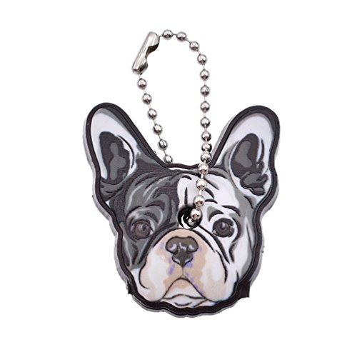 Hongma Schlüsselkappen Schlüsselüberzieher Bulldog Ausdruck Farbig Silikon Zubehör Unisex