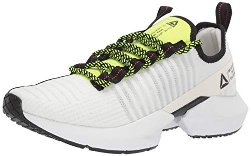 Reebok Men's Sole Fury, White/Black Red/Neon Lime, 11 M