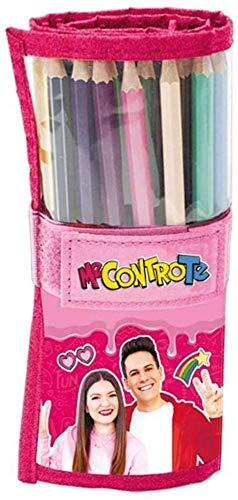 Me Contro Te Astuccio/Rotolo porta colori con 24 Pastelli Tinta Unita