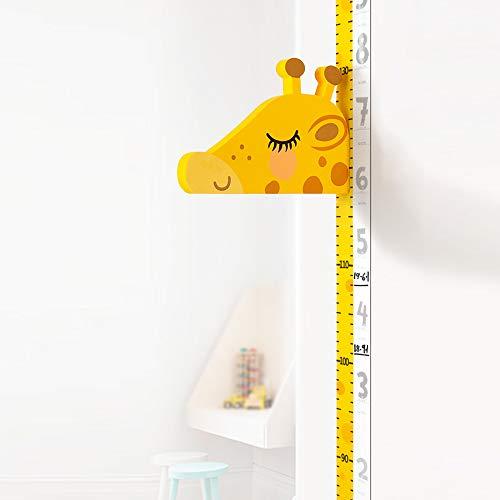 Gobesty Baby Messlatte Höhe Diagramm, 3D Beweglicher Giraffenkopf Wachstumstabelle Höhenlehre für Kinderziemmer Dekoration Tier Wandabziehbild