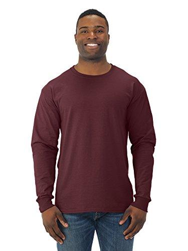 Jerzees T-shirt à manches longues en mélange épais 50/50 > L Bordeaux 29 L