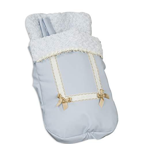Babyline Saco Silla Con Cubre Arnés Leather Celeste - Sacos de abrigos, unisex