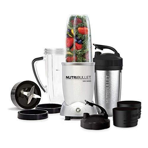 Nutribullet Max 1200 Watt series Frullatore Mixer per Smoothie, Blender Multifunzione per Frullati, Minestre, set 12 pezzi