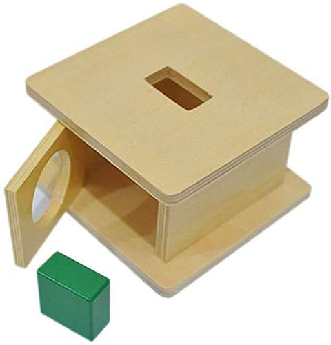 LSZ Clasificador de Forma de Madera Emparejamiento Niño Sólido Bloque Geométrico Sólido Desarrollo Clásico Educación Early Toys Regalo de Preescolar Juguetes de Bebe (Color : Cuboid)