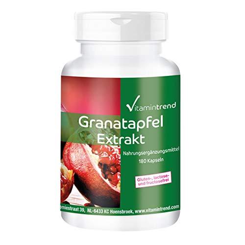 Extracto de Granada 500mg – 180 cápsulas – vegano – Alta dosis – Polvo encapsulado