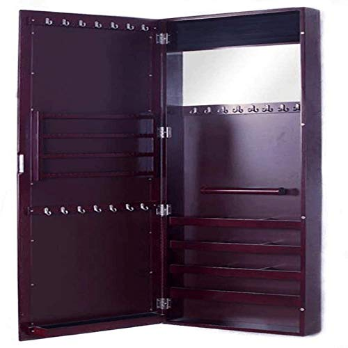 N \ A Jewellery Cabinet Full Length Mirrored Armoire, Free Standing Lockable Full Length Mirrored Jewellery Cabinet Armoire, Jewelry Cabinet Velvet Lining Protection, Separate Storage Compartments