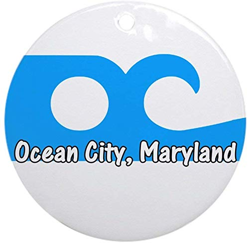 77 xiochgzish Ocean City Flag Ornament (Round) Holiday Christmas Ornament Holiday and Home Decor Round Xmas Gifts Christmas Tree Ornaments Ideas 2019