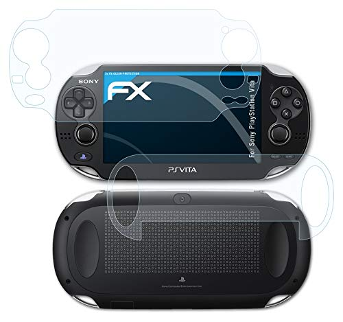 atFoliX Schutzfolie kompatibel mit Sony PlayStation Vita Folie, ultraklare FX Displayschutzfolie (3er Set)