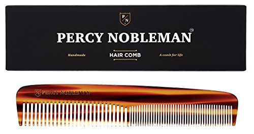Percy Nobleman Acetate Hair Comb - Tortoiseshell Design