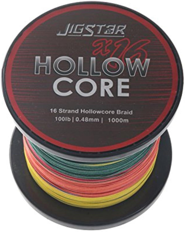 Jig Star X16 Hollow Core Braid MultiColour 1000m 100lb .48mm
