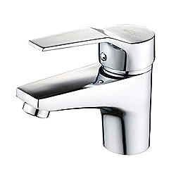 Auralum® Design Einhebel Wasserhahn Armatur Waschtischarmatur Einhandmischer für Badezimmer Waschbecken