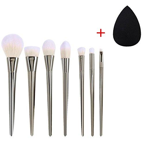 FEITONG Mode féminine et nécessaire 7pcs Set Professional Brush Haute Pinceaux Maquillage Blush Brosses pinceau de maquillage (Argent)