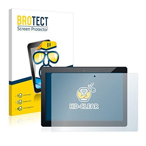 BROTECT Schutzfolie kompatibel mit Odys Winpad 12 (2 Stück) klare Bildschirmschutz-Folie