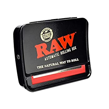 RAW 79mm Adjustable Automatic Cigarette Rolling Box  RED