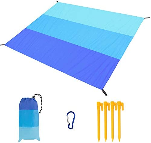 Beach Blanket Oversized 79 x83 Beach Mat Sandproof Waterproof for 4 7 Adults Lightweight Portable product image