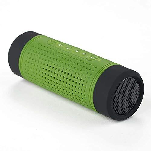 Portable Haut-Parleur De VéLo Bluetooth Mini Radio FM 10w Puissant Enhanced Bass & Temps De Jeu De 24 Heures ImperméAble, Antichoc Et AntipoussièRe pour L'éQuitation, en Plein Air Vert/Bleu/Noir
