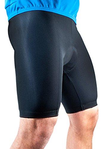 AERO|TECH|DESIGNS Mens Basic Bike Short Padded Cycling Shorts Biking Pant Black Small