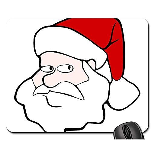 Gummiunterseite Mausmatte,Pad Maus Unterlage,Anti Rutsch Gaming Mausepad,Weihnachtsmann St Nick St Nicholas Urlaub Weihnachten Glatt Mousemat,Office Computers Pad,30X25Cm