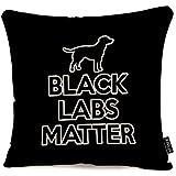 WEURIGEF Funda de Almohada Throw Black Labs Matter Funda de Almohada Decorativa...