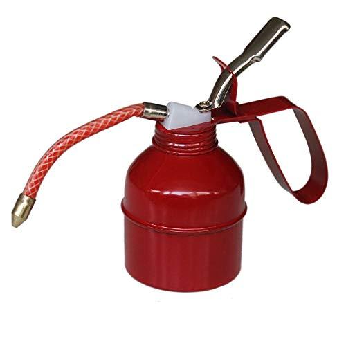 300ml Ölkanne mit flexiblem Schlauch | Ölpumpe | Öler | Ölspritzkanne | Ölkännchen aus Metall | Handpumpe für Öl