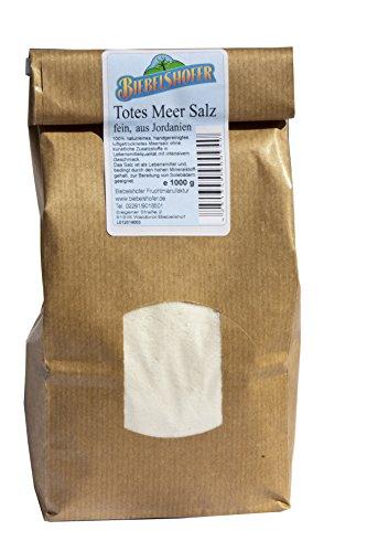 Totes Meer Salz, fein, 1 kg, naturrein als Speisesalz oder Badesalz/Solebad aus Jordanien