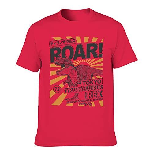 GOLUM Camiseta de algodón para hombre con diseño de dinosaurios